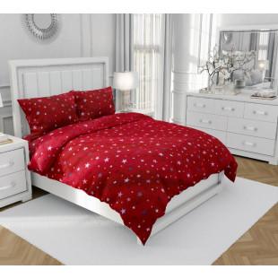Lenjerie de pat matrimonial, din bumbac 100% neted, pentru 2 persoNina, cu 4 piese Armonia Textil - Nidia