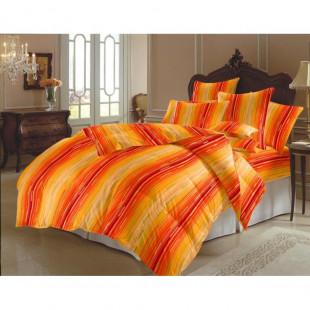 Lenjerie de pat matrimonial, din bumbac 100% neted, pentru 2 persoane, cu 4 piese Armonia Textil - Nina
