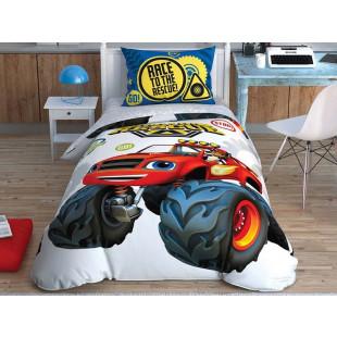 Lenjerie de pat pentru 1 persoana, 3 piese, TAC, din bumbac 100% - Blaze