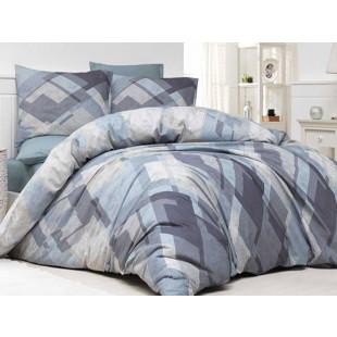 Lenjerie de pat pentru 2 persoane, 4 piese, Bahar Majoli, din bumbac 100% Ranforce - Olivia