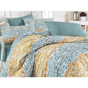 Lenjerie de pat pentru 2 persoane, 4 piese, Bahar Majoli, din bumbac 100% Ranforce - Raisa