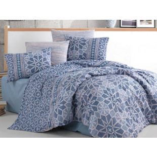 Lenjerie de pat pentru 2 persoane, 4 piese, Bahar Majoli, din bumbac 100% Ranforce - Vera