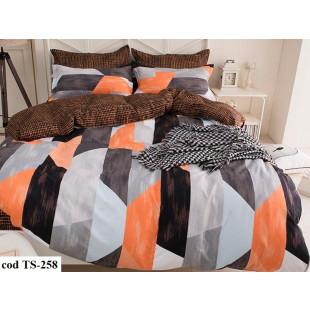 Lenjerie de pat pentru 2 persoane din bumbac satinat, Pucioasa, L'atelier Creatif, cu 4 piese - Nidia