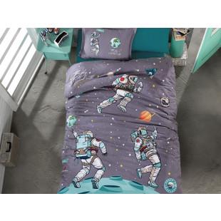 Lenjerie de pat pentru copii, 1 persoana - Clasy, din bumbac 100% - Yanis
