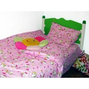 Lenjerie de pat pentru copii, 1 persoana, din bumbac 100%, Armonia Textil - Lisa