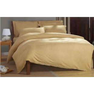 Lenjerie de pat Pucioasa, din bumbac 100% Damasc, 2 persoane, 4 piese (cearceaf cu elastic 160x200 cm) Pucioasa - Lisa