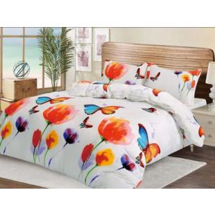 Lenjerie de pat pufoasa cocolino pentru 2 persoane, cu 4 piese - Colored