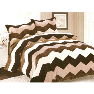 Lenjerie de pat pufoasa cocolino pentru 2 persoane, cu 4 piese Casa New Concept - Gina