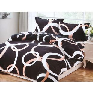 Lenjerie de pat cocolino, pufoasa, pentru 2 persoane, cu 4 piese, East Confort - Lorena
