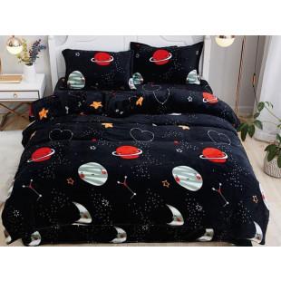 Lenjerie de pat pufoasa cocolino pentru 2 persoane, cu 4 piese - Delia