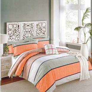 Lenjerie de pat Satin, Casa New fashion, pentru 2 persoane, bumbac satinat, cu 4 piese - Janine