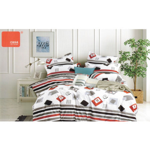 Lenjerie de pat Satin, Casa New fashion, pentru 2 persoane, bumbac satinat, cu 4 piese - Medeea