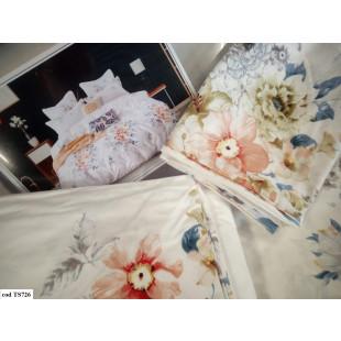 Lenjerie de pat Satin, Casa New Fashion pentru 2 persoane, bumbac satinat, cu 4 piese - Haris