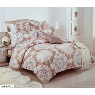Lenjerie de pat Satin, Casa New Fashion pentru 2 persoane, bumbac satinat, cu 4 piese - Larisa