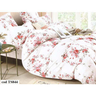 Lenjerie de pat Satin, Casa New Fashion pentru 2 persoane, bumbac satinat, cu 4 piese - Lora