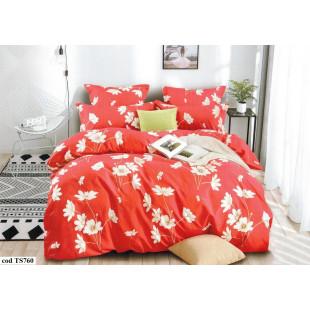 Lenjerie de pat Satin, Casa New Fashion pentru 2 persoane, bumbac satinat, cu 4 piese - Luisa