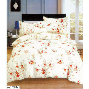 Lenjerie de pat Satin, Casa New Fashion pentru 2 persoane, bumbac satinat, cu 4 piese - Mellisa