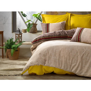 Lenjerie de pat pentru 2 persoane, 4 piese, brodata, Cotton box, din bumbac 100% - Marie-Ann