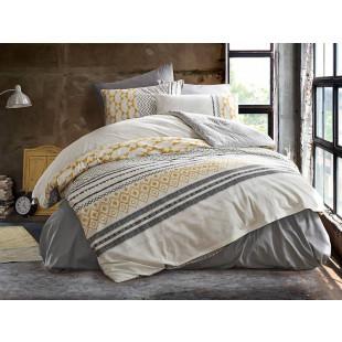 Lenjerie de pat pentru 2 persoane, 4 piese, Bahar Majoli, din bumbac 100% Ranforce - Marie