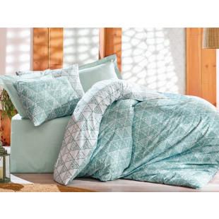 Lenjerie de pat pentru 2 persoane, 4 piese - Cotton box, din bumbac 100% - Mikaela