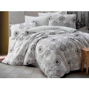 Lenjerie de pat pentru 2 persoane, 4 piese, Bahar Majoli, din bumbac 100% Ranforce - Mirabela
