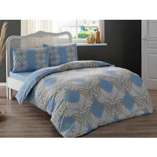 Lenjerie de pat pentru 1 persoana, 3 piese, TAC, din bumbac 100% Ranforce - Miruna