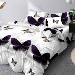 Lenjerie de pat din bumbac, ELVO, pentru 2 persoane, 4 piese, Ralex Pucioasa - Miruna