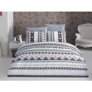 Lenjerie de pat pentru 2 persoane, 4 piese, Bahar Majoli, din bumbac 100% Ranforce - Misael