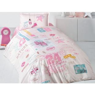 Lenjerie de pat pentru copii - Clasy, din bumbac 100% - Naomi