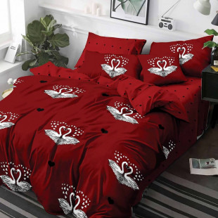 Lenjerie de pat din bumbac, ELVO, pentru 2 persoane, 4 piese, Ralex Pucioasa - Naomi