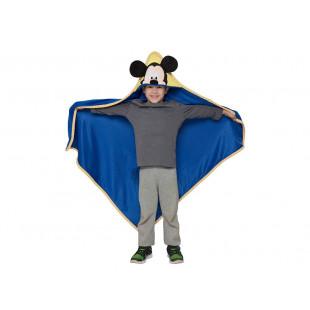 Patura pufoasa cu gluga pentru copii, 100x100 cm, Tac - Mickey Mouse