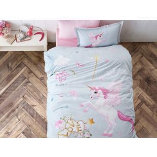 Lenjerie de pat pentru copii, 1 persoana - Clasy, din bumbac 100% - Pegasus