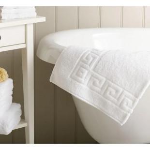 Set 2 prosoape de baie, albe Greek border 30x50 cm, din bumbac 100% Ralex Pucioasa