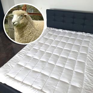 Protectie saltea cu umplutura de lana, matlasata, 100% natural 180x210 cm, cu elastic, Ralex Pucioasa