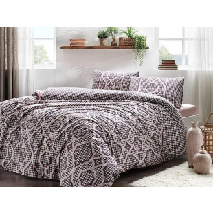 Lenjerie de pat pentru 2 persoane, 4 piese, TAC, din bumbac 100% Ranforce - Roberta