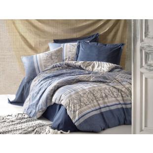 Lenjerie de pat pentru 2 persoane, 4 piese - Cotton box, din bumbac 100% - Romina