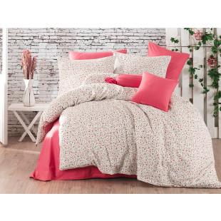 Lenjerie de pat pentru 1 persoana, 3 piese, Bahar Majoli, din bumbac 100% Ranforce - Rosalia