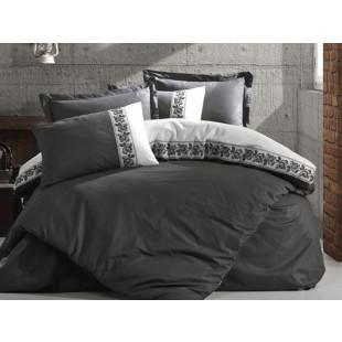 Lenjerie de pat pentru 2 persoane, 4 piese, brodata, Cotton box, din bumbac 100% - Rosalinda
