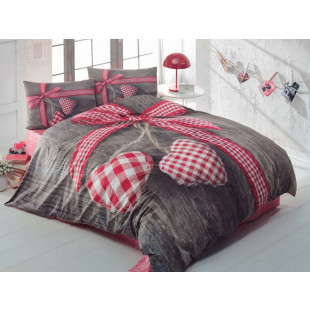 Lenjerie de pat 3D pentru 2 persoane, 4 piese - Cotton box, din bumbac 100% - Samantha