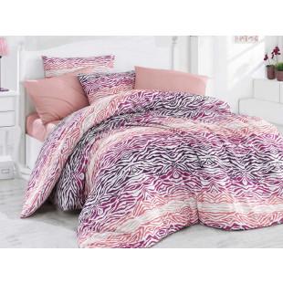 Lenjerie de pat pentru 1 persoana, 3 piese, Bahar Majoli, din bumbac 100% Ranforce - Sandra