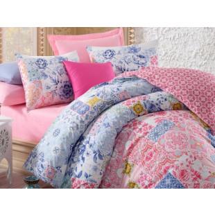 Lenjerie de pat pentru 2 persoane, 4 piese - Cotton box, din bumbac 100% - Sefora