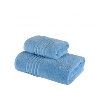 Set 2 prosoape de baie din bumbac albastre din bumbac 100% Ralex Pucioasa