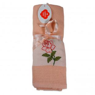 Set 2 prosoape de bucatarie coral, din bumbac 100%, Cotton box (45x70 cm) - trandafir