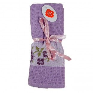 Set 2 prosoape de bucatarie mov, din bumbac 100%, Cotton box (45x70 cm) - flori