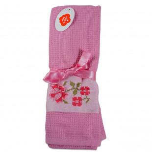 Set 2 prosoape de bucatarie roz, din bumbac 100%, Cotton box (45x70 cm) - flori