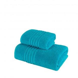 Set 2 prosoape de baie din bumbac turcoaz din bumbac 100% Ralex Pucioasa