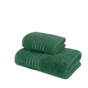 Set 2 prosoape de baie verzi din bumbac 100% Ralex Pucioasa