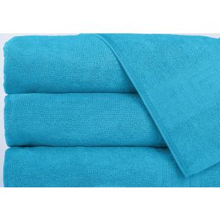 Set 5 prosoape de baie, Greek border albastru ciel, din bumbac 100% Ralex Pucioasa 50x90 cm