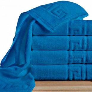 Set 5 prosoape de baie, Greek border albastru, din bumbac 100% Ralex Pucioasa 50x90 cm