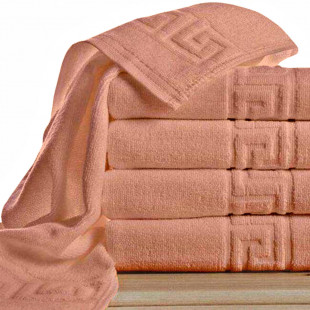 Set 5 prosoape de baie, rosu Greek border din bumbac 100% Ralex Pucioasa 70x140 cm